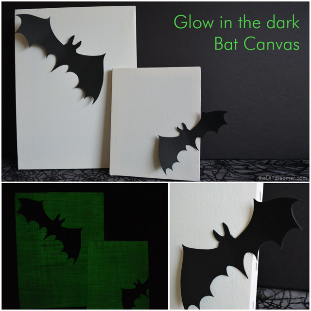 Glow in the dark Bat Canvas