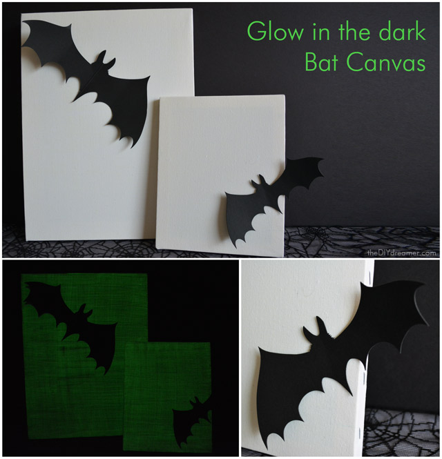 Glow in the dark Bat Canvas - EASY Halloween Tutorial!