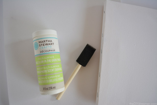 How to apply Glow in the dark finish onto canvases