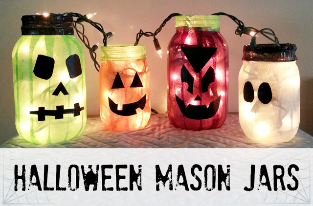 Halloween Crafts: Mason Jars