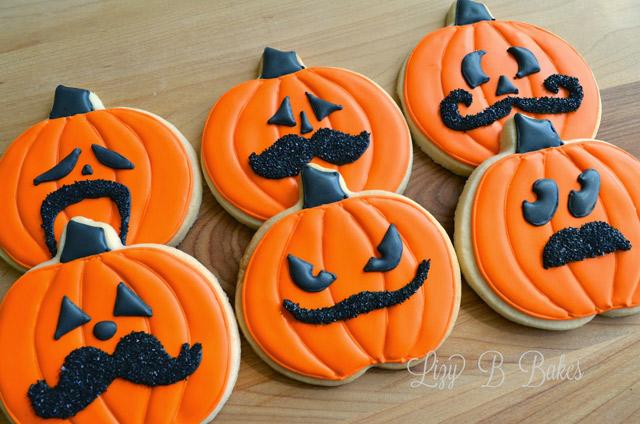 Halloween Mustache Cookies