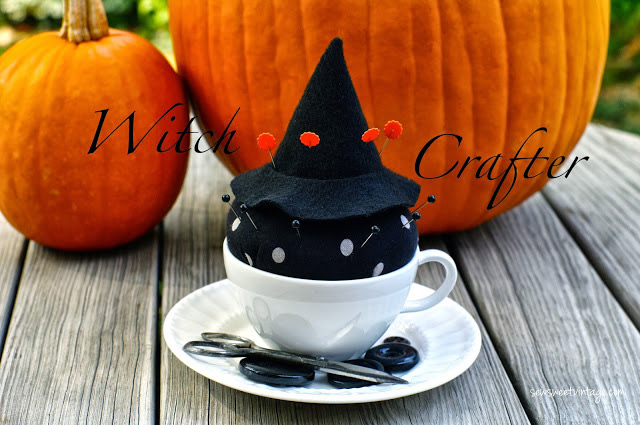 Witch Tea Cup Pin Cushion