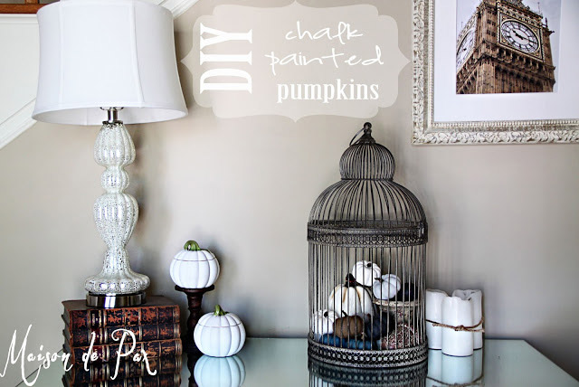 DIY Chalk Painted Pumpkins