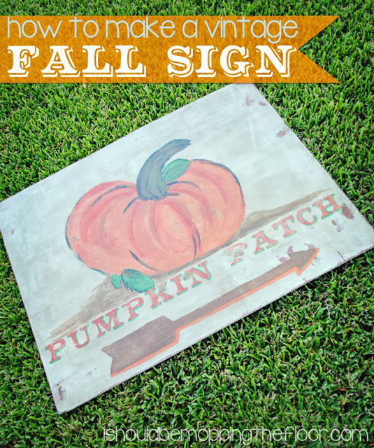 How to make a vintage sign