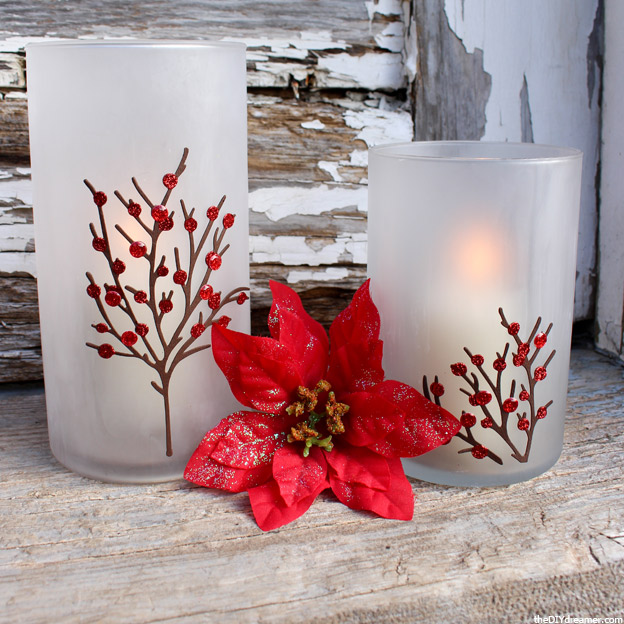 Etched Candle Holders – Perfect for Christmas! #12MonthsofMartha