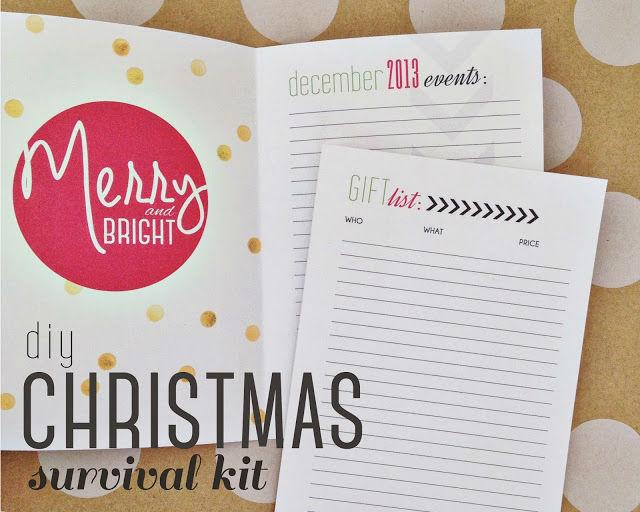 DIY Christmas Survival Kit and Christmas Printables