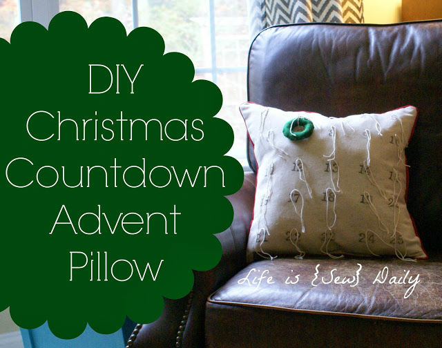 DIY Christmas Countdown Advent Pillow Tutorial