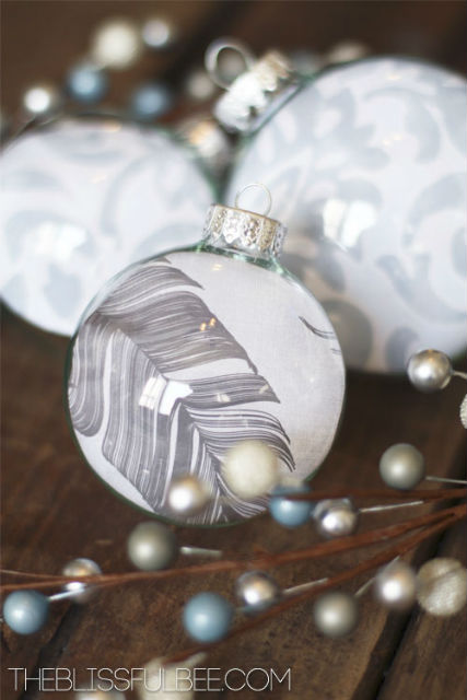 DIY Fillable Christmas Ornaments