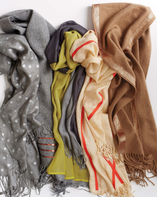DIY Scarves - How to embellish scarves