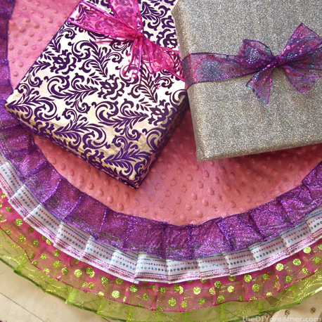 No Sew Ribbon Tree Skirt