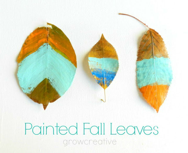 Painted Fall Leaves Tutorial