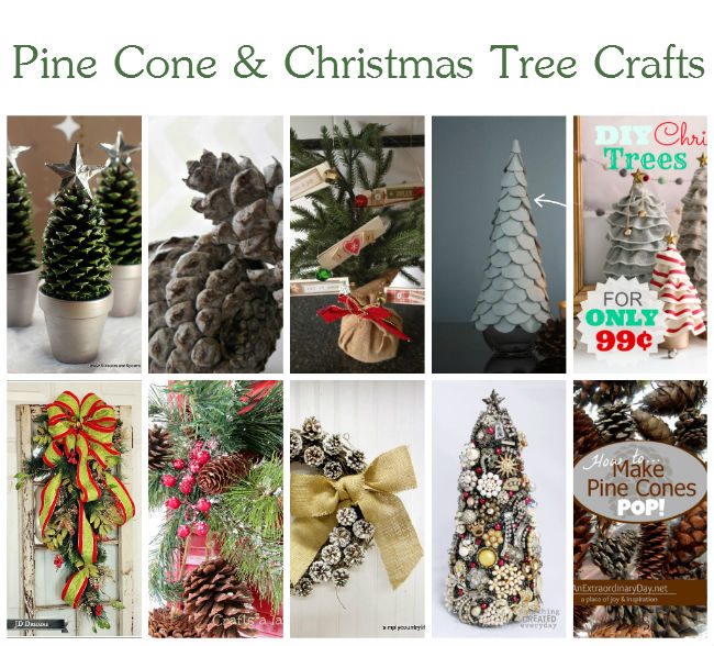 Pine Cone and Christmas Tree Crafts - Beautiful ideas