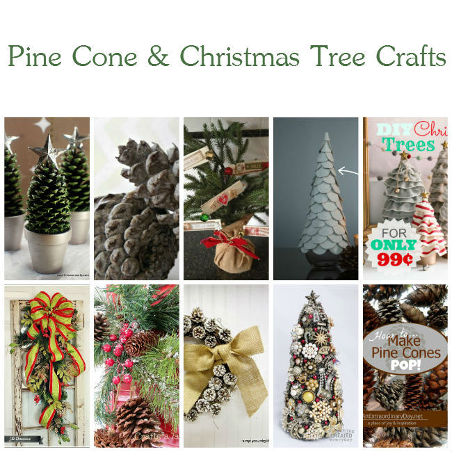 10 wonderful pine cone and christmas tree crafts for Holiday craft ideas with pine cones