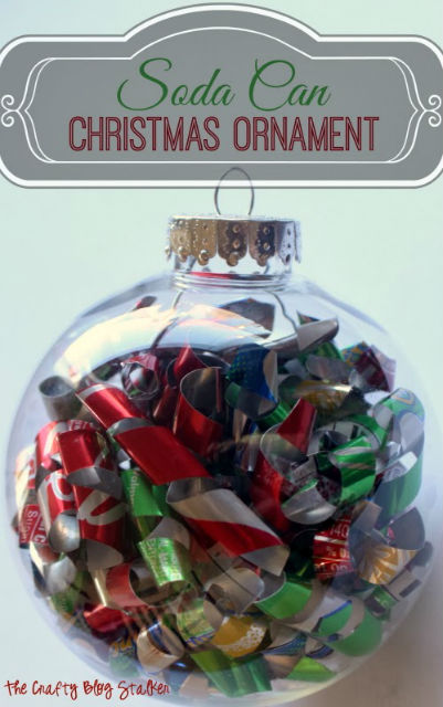 How to transform a Soda Can into a Christmas Ornament