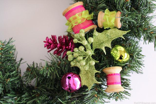 Decorating a Christmas Wreath