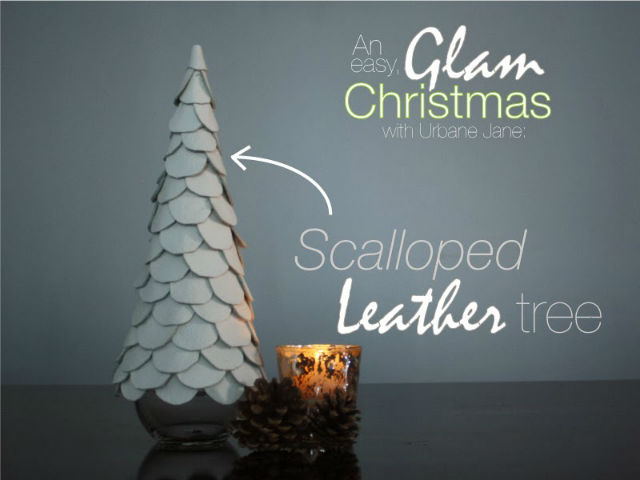 Scalloped White Leather Tree - Tutorial
