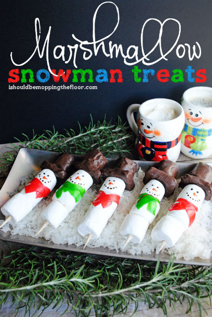 Snowman Marshmallow Treats