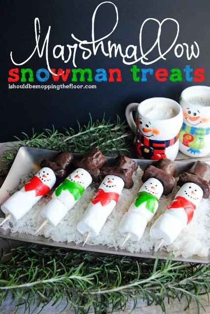 Snowman Marshmallow Treats