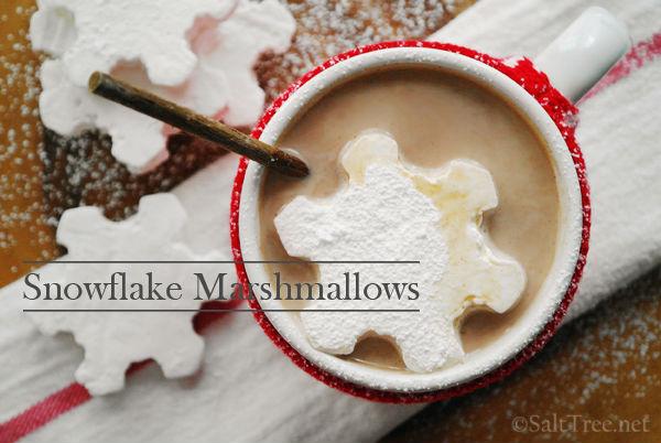 Snowflake Marshmallows - Recipe and Tutorial