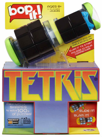 bop it! TETRIS from Hasbro Canada
