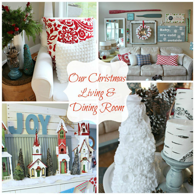 Christmas Living and Dining Room decor