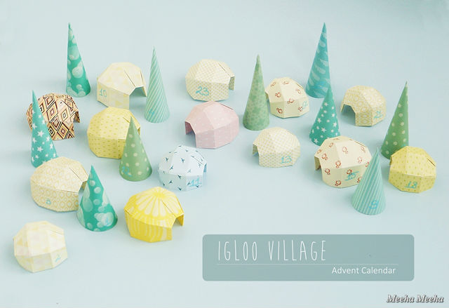 DIY Advent Calendar: Igloo Village