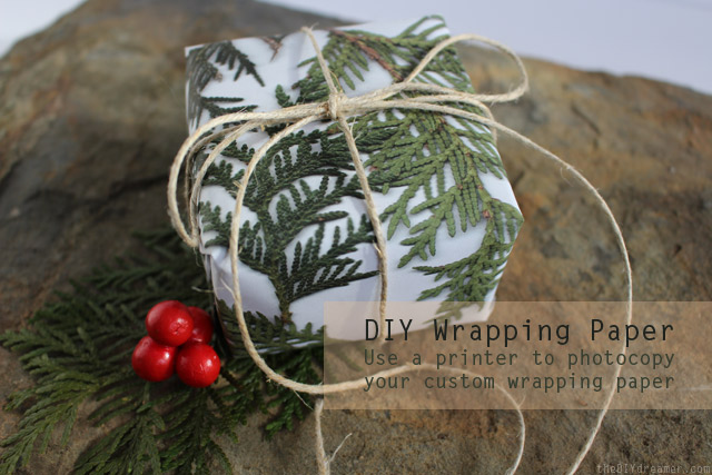 DIY Wrapping Paper - created easily with a printer