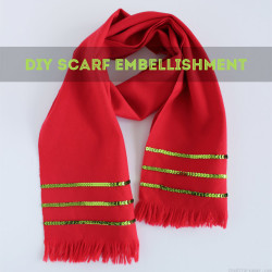 DIY Scarf Embellishment Tutorial