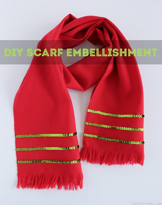 DIY Scarf Embellishment