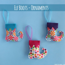 Elf Boots - Christmas Felt Ornaments - Tutorial