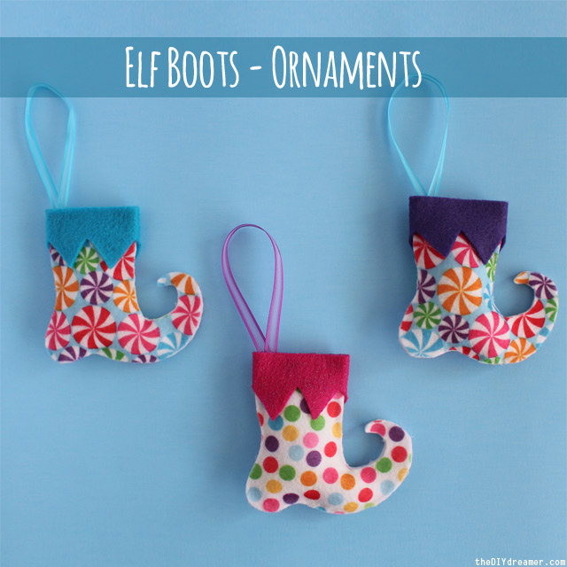 Elf Boots - Felt Ornaments