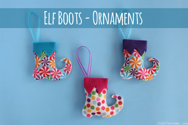 Elf Boots - Felt Ornaments - Tutorial