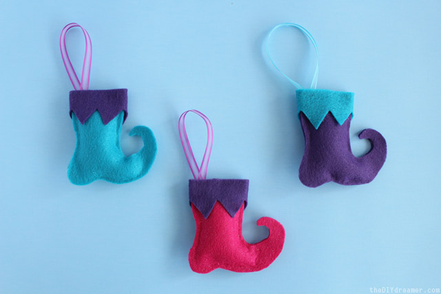 Elf Boots - Felt Christmas Ornaments - Tutorial