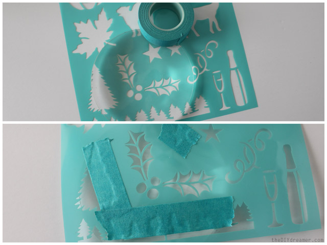 How to apply a stencil onto glass