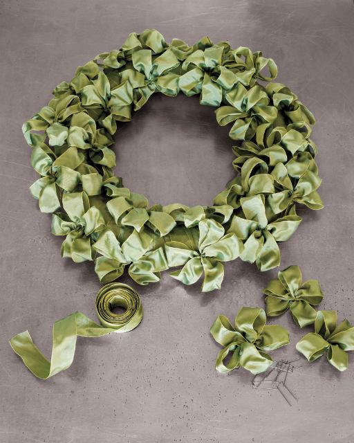 Ribbon Bow Handmade Wreath