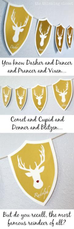 Reindeer Head Banner