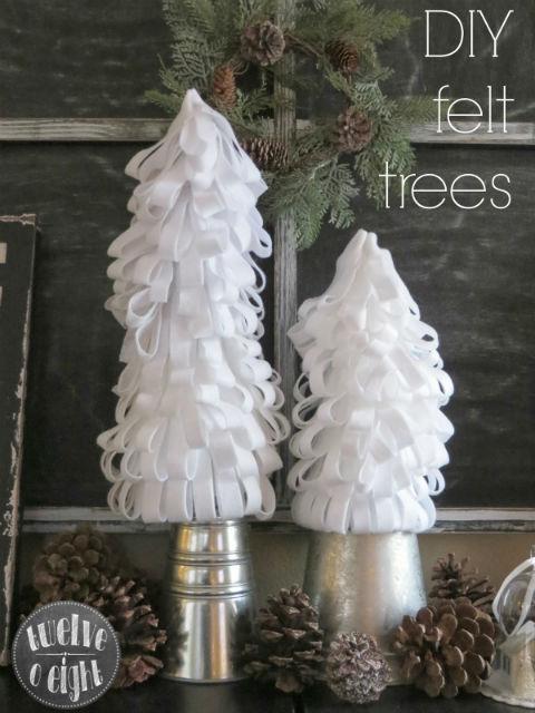 DIY Felt Christmas Trees