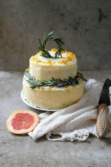 Pink Grapefruit and Rosemary Cake - Recipe