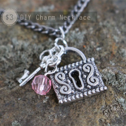 $3 DIY Charm Necklace Tutorial - thediydreamer.com