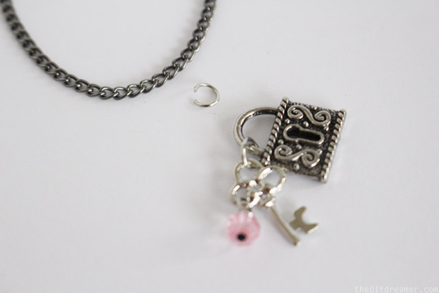 How to attach a charm onto a chain