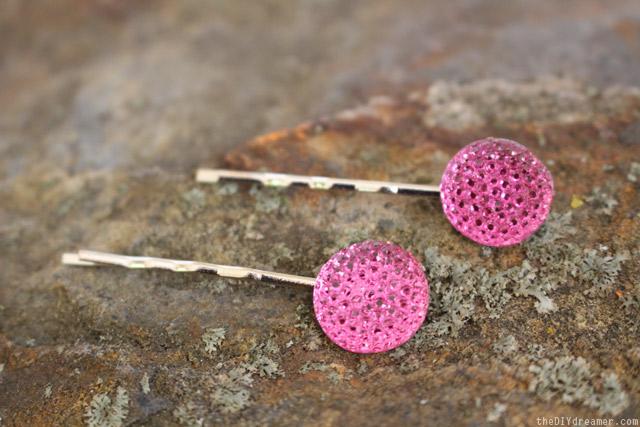 Stylish Hair Pins - DIY Hair Jewels - thediydreamer.com