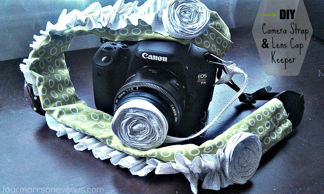 DIY Camera Strap and Lens Cap Keeper