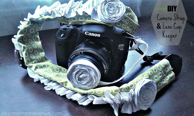 DIY Camera Strap and Lens Cap Keeper