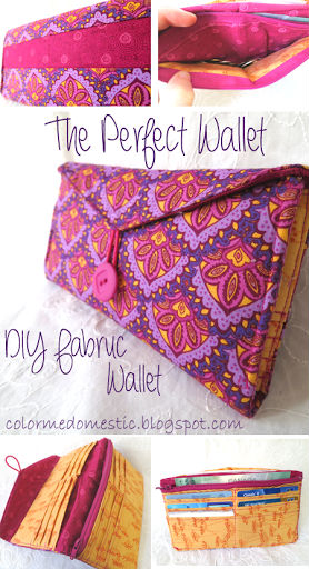 How to make a wallet - DIY Fabric Wallet