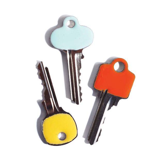 Keys decorated with Enamel Paint