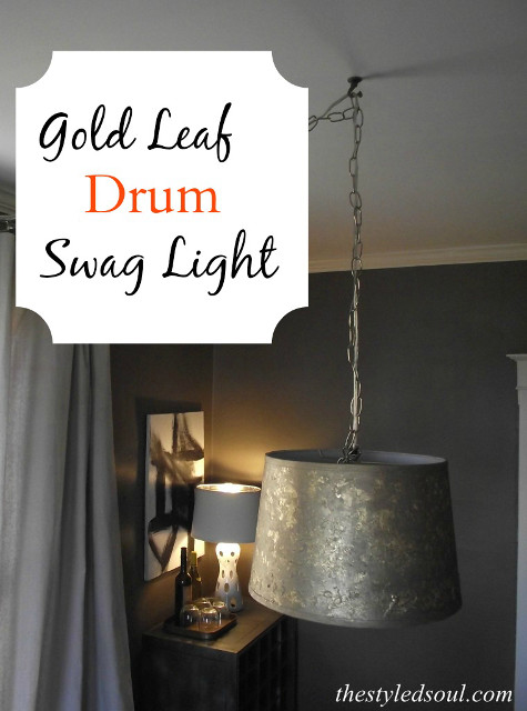and diy drum more light pendants lamps fixtures lighting leaf ideas gold swag