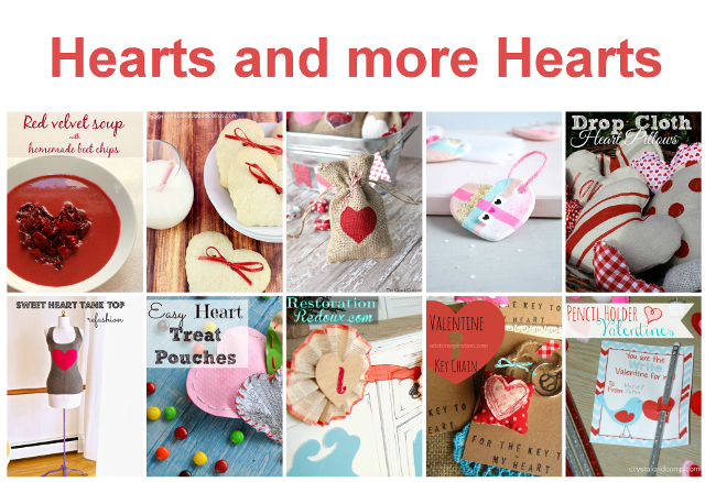 Hearts and more Hearts - Bunch of GREAT Valentine's Day Tutorials