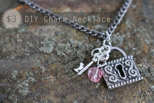 $3 DIY Charm Necklace Tutorial - thediydreamer.com