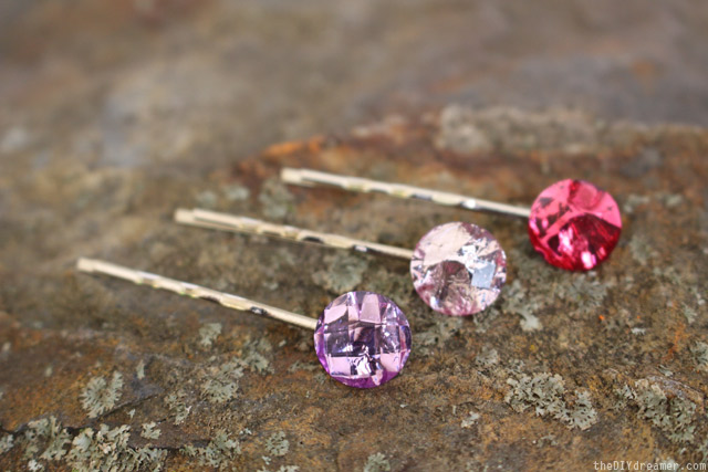 Stylish Hair Pins - DIY Hair Jewels - thediydreamer.com