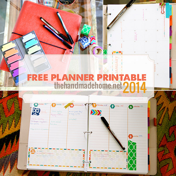 Free planner and calendar - 2014 Printable
